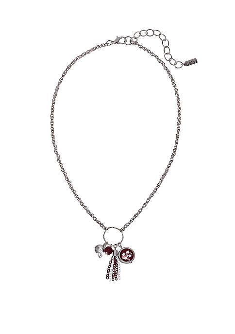 Beaded Necklace with Drop Charms
