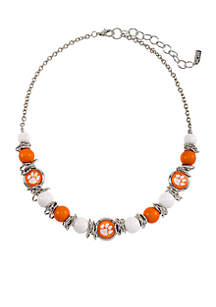 Clemson University Tigers Beaded Scrunch Bracelet