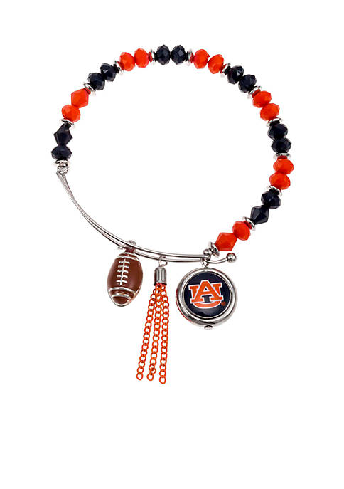 accessory PLAYS® Silver-Tone Auburn University Tigers Beaded