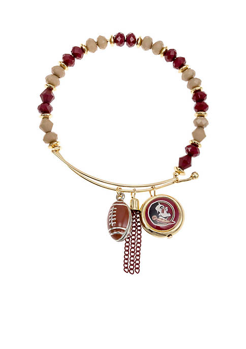 accessory PLAYS® Silver-Tone Florida State University Beaded