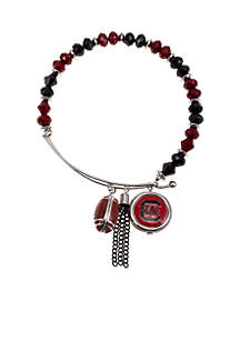 Silver-Tone University of South Carolina Gamecocks Fringe Beaded Bangle
