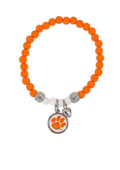 accessory PLAYS® Silver-Tone Clemson University Tigers Beaded