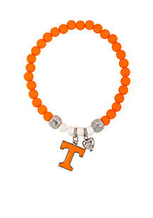 University of Tennesse Volunteers Beaded Stretch with Logo Bracelet