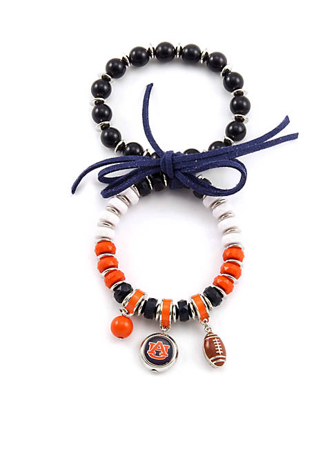 accessory PLAYS® Silver Tone Auburn University Tigers 2-Row