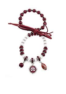 Silver-Tone Mississippi State Stretch Charm Bracelet