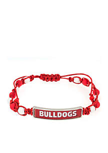 University of Georgia Bulldogs Woven Beaded Bracelet with Plaque