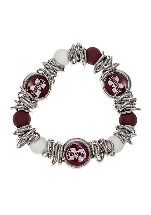 accessory PLAYS® Silver-Tone Mississippi State University Beaded
