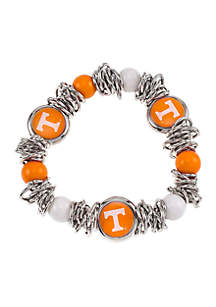 University of Tennessee Volunteers Beaded Scrunch Stretch with Logo Bracelet