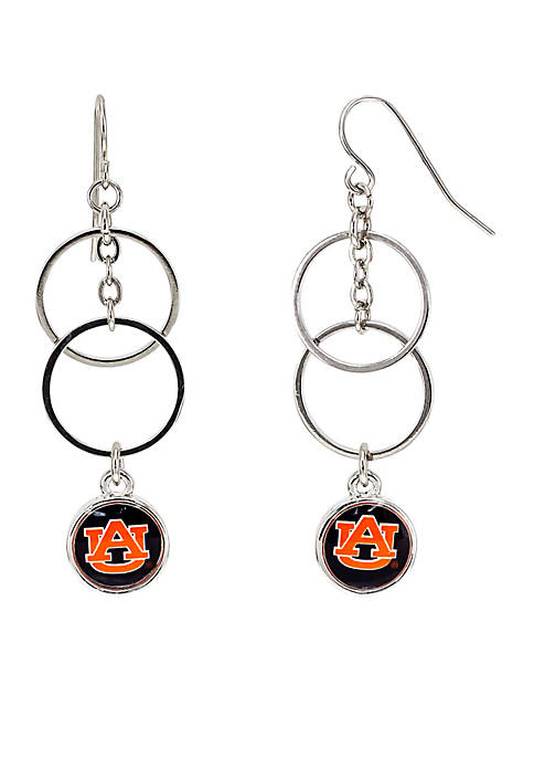 accessory PLAYS® Silver-Tone Auburn University Tigers Double Ring