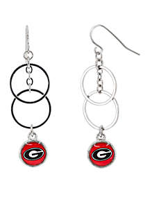 University of Georgia Bulldogs Double Rings w Logo Drop