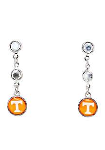 University of Tennessee Volunteers Post Top with Logo Drop Earrings