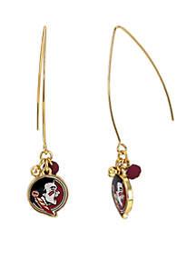 Silver-Tone Florida State University Seminoles Elongated Hook Earrings