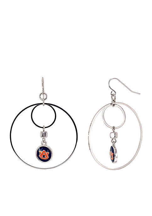 accessory PLAYS® Silver-Tone Auburn University Tigers Large Hoop