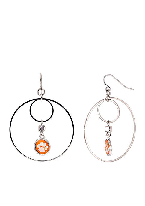 accessory PLAYS® Silver-Tone Clemson University Tigers Large Hoop