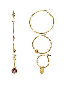 accessory PLAYS® Florida State Seminoles Set of 3 Hoop Earrings