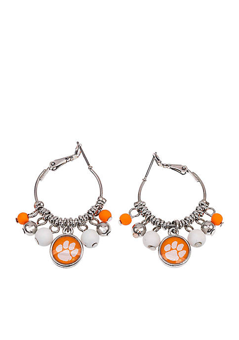 accessory PLAYS® Clemson Tigers Click Hoop Fringe Earrings