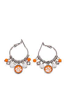 Clemson Tigers Click Hoop Fringe Earrings