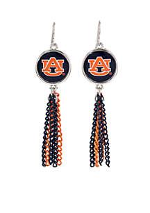 Auburn Tigers with Chain Tassel Earrings