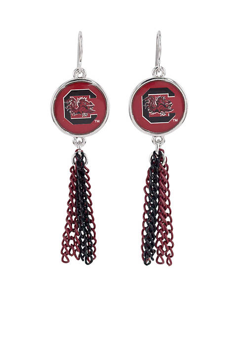 accessory PLAYS® South Carolina Gamecocks Chain Tassel Earrings