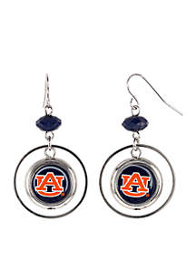 Auburn Tigers Hoop Insert Earrings
