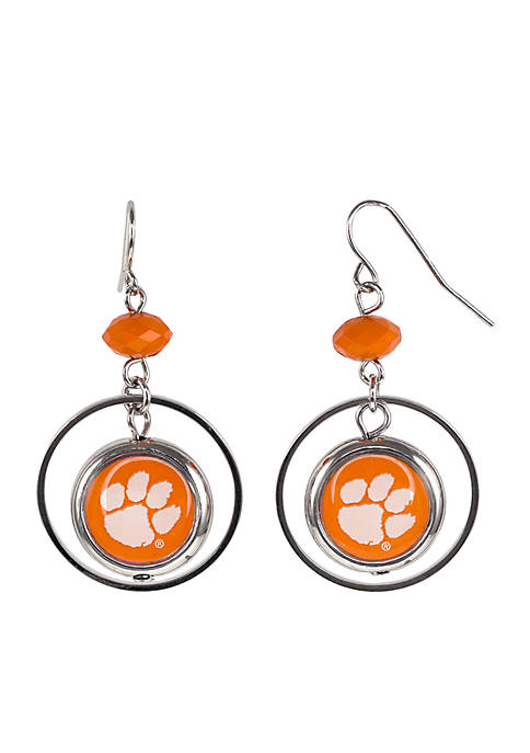 accessory PLAYS® Silver-Tone Clemson University Hoop Logo Insert