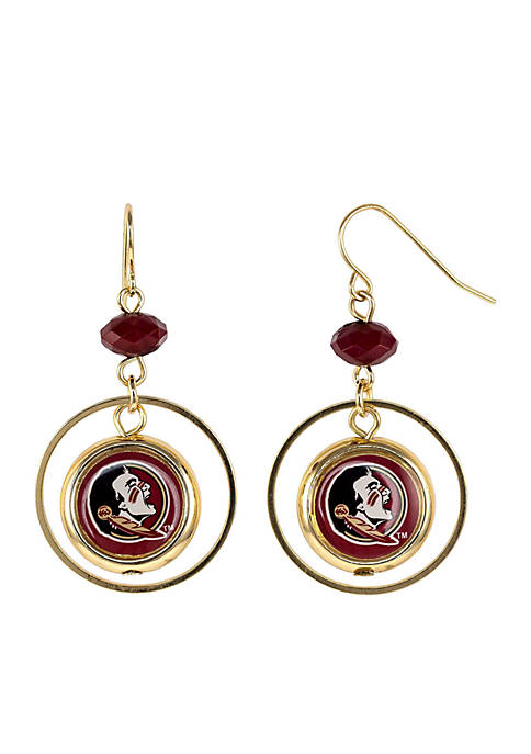 accessory PLAYS® Florida State Seminoles Hoop insert Earrings