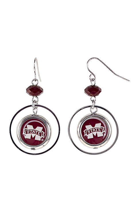 accessory PLAYS® Mississippi Bulldogs Hoop Insert Earrings
