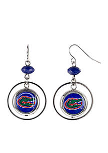 University of Florida Gators Orbital Logo Drop Earrings