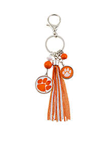 Clemson Tigers Key Chain with Bead and Tassel