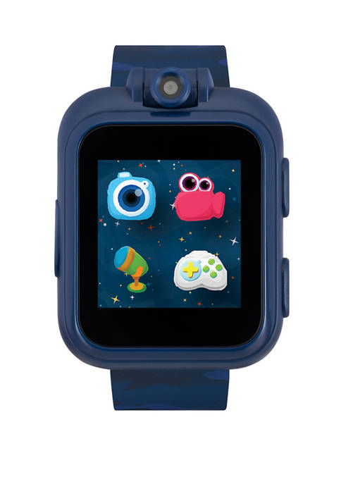 PlayZoom Smartwatch For Kids: Blue With Camouflage Print