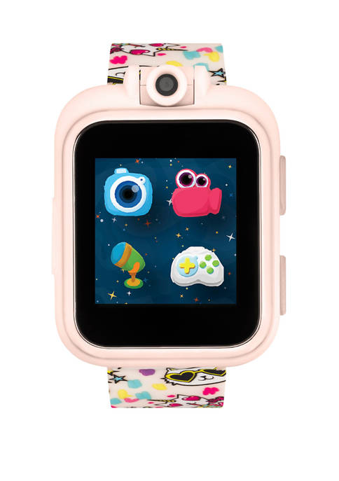 PlayZoom Smartwatch For Kids: Blush with Cats Print