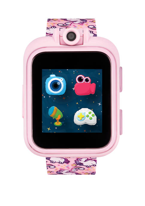 PlayZoom Smartwatch For Kids: Pink with Unicorns Print