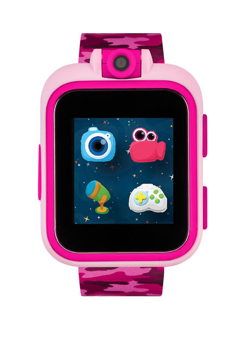 PlayZoom Smartwatch For Kids: Pink With Camouflage Print