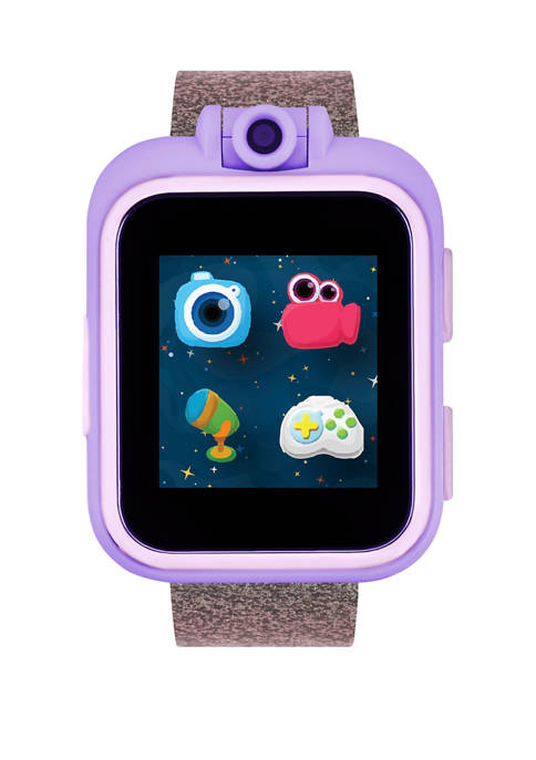PlayZoom Smartwatch For Kids: Pink/Purple Glitter Print
