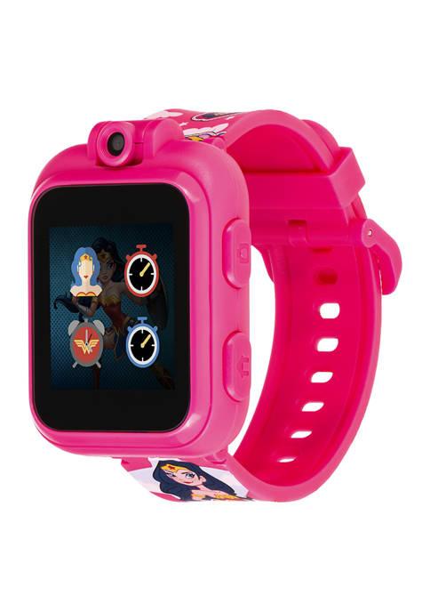 DC Comics iTouch PlayZoom Smartwatch For Kids: Fuchsia Wonder Woman Print