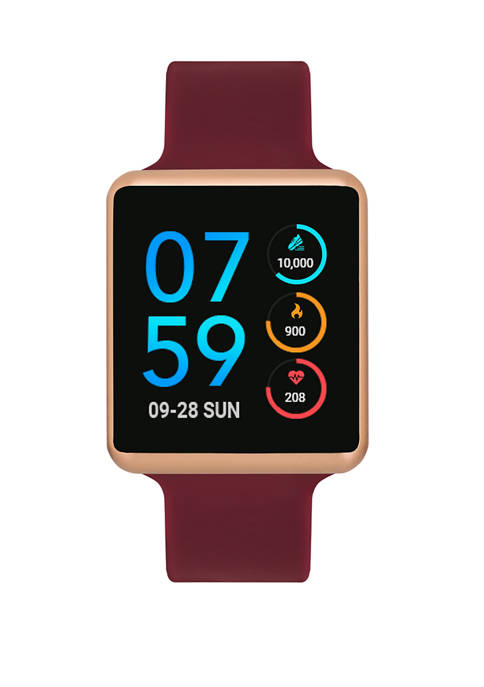 iTouch Womens Merlot and Rose Air Smart Watch