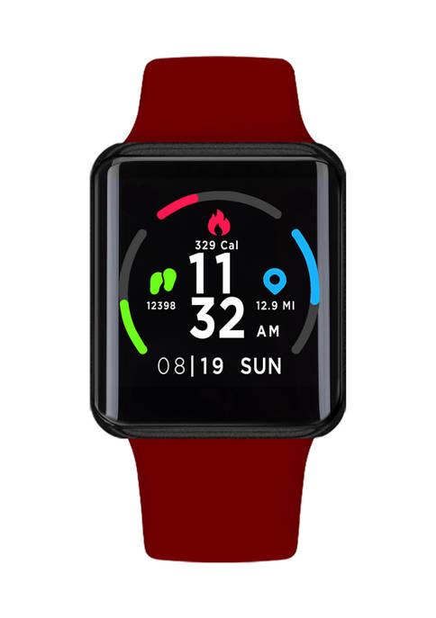 iTouch Air Special Edition Smartwatch: Black Case and Red Strap