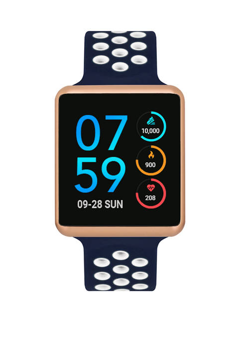 Rose Gold Tone Perforated Strap Smartwatch
