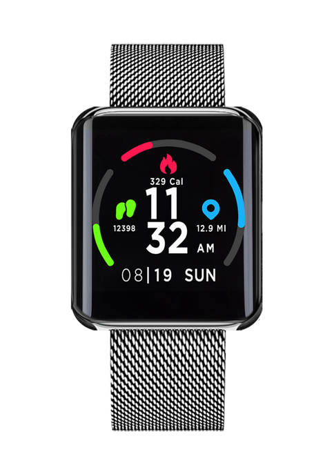 iTouch Air Special Edition Smartwatch: Silver Mesh