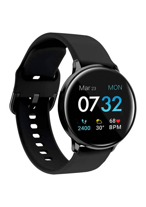 iTouch Sport 3 Touchscreen Smartwatch for Men and Women: Black Case with Black Strap