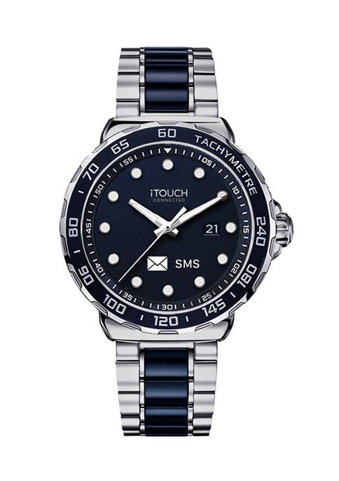 iTouch Connected Mens Hybrid Smartwatch Fitness Tracker: SIlver