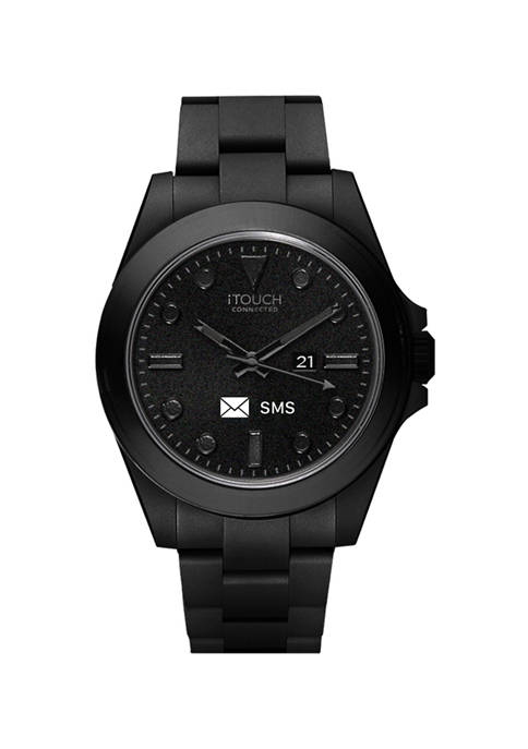iTouch Connected Mens Hybrid Smartwatch Fitness Tracker: Black