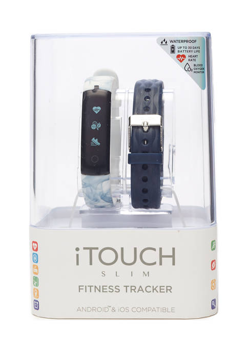 iTouch Slim Blue & Marble Activity Tracker Set