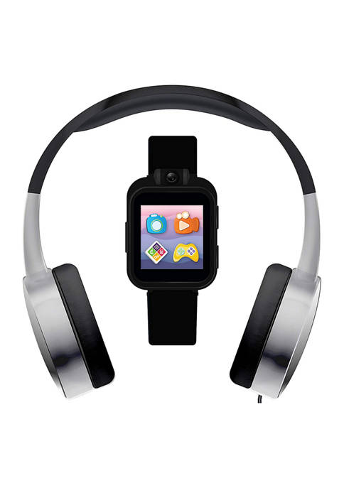 PlayZoom 2 Interactive Educational Kids Smartwatch with Headphones: Black & Silver