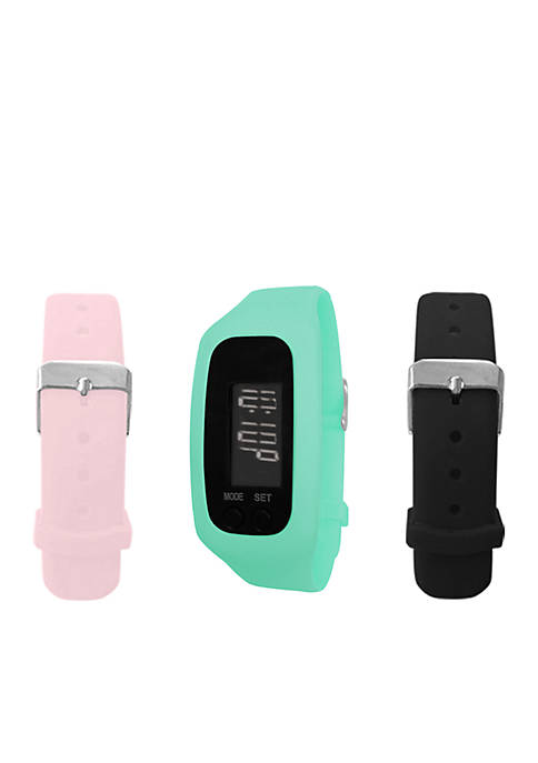 B FIT WATCH® Mint LCD Tracker Watch