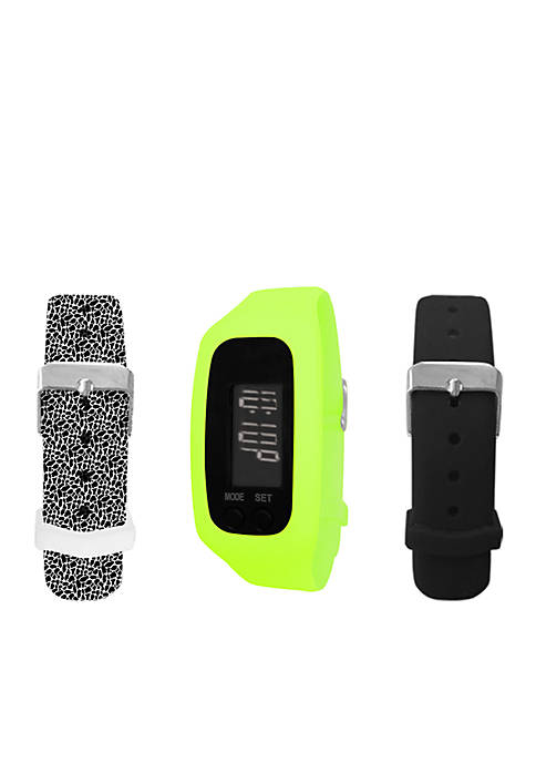 B FIT WATCH® Lime Green LCD Tracker Watch
