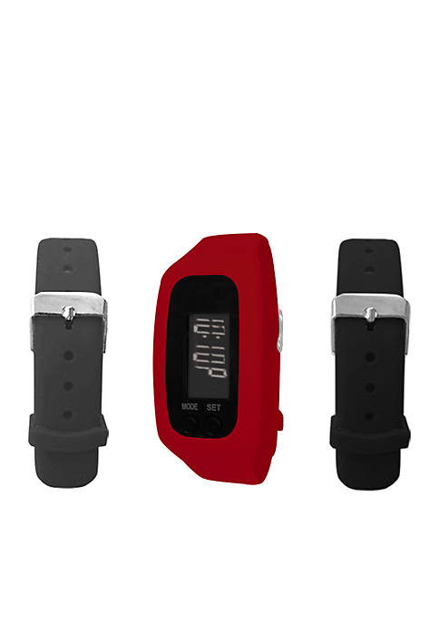 Red LCD Tracker Watch