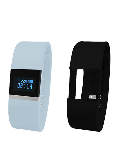 iFitness Silver-Tone Activity Tracker Watch