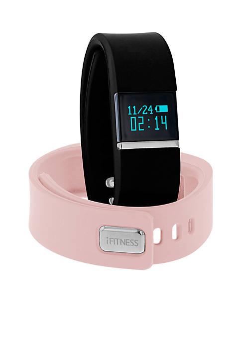 Womens Silver-Tone iFITNESS Blush Activity Tracker Interchangeable Watch