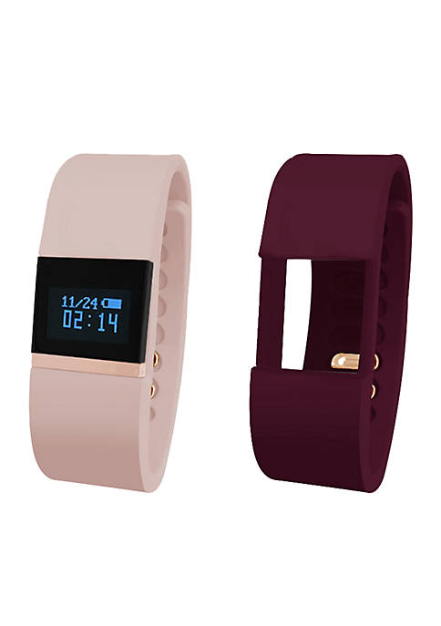 iFitness Rose Gold-Tone Activity Tracker Watch